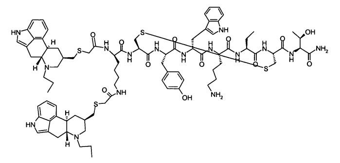 Фармацевтические композиции конъюгатов соматостатин-дофамин