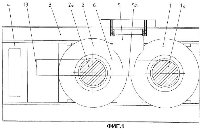 Валковый пресс с выдвижным направляющим листом для измельчаемого материала
