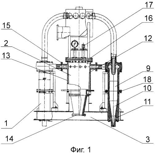 Блок гидроциклонов системы фракционного разделения суспензий руд тонкого помола