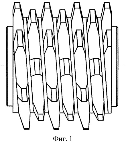 Червячная многозаходная фреза для нарезания зубчатых деталей