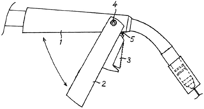 Сварочный пистолет для сварки металлическим электродом в среде активного или инертного газа