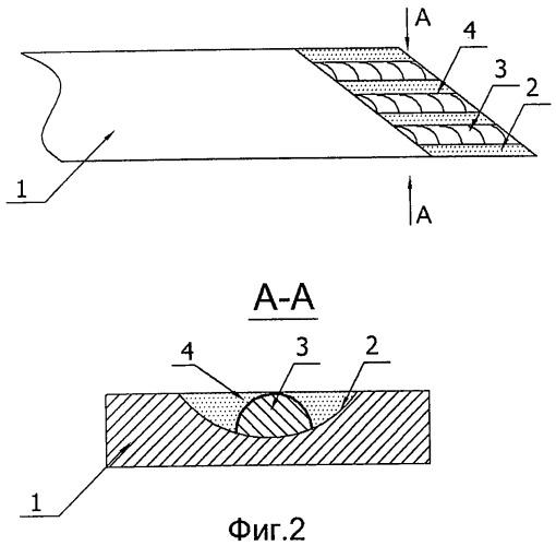 Способ восстановления рабочей поверхности лемеха с лучевидным износом
