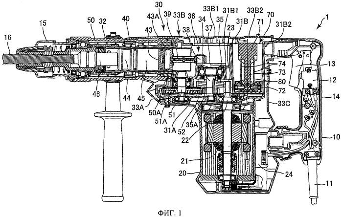 Ручная машина с возвратно-поступательным движением рабочего органа