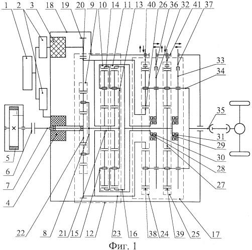 Гибридный силовой агрегат транспортного средства (варианты)