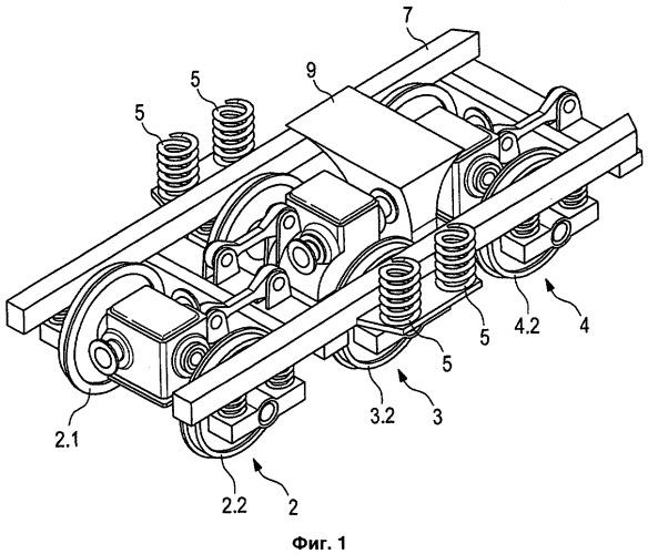 Тележка для рельсового транспортного средства, содержащего привод