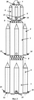 Многоступенчатая ракета-носитель, жидкостный ракетный двигатель, турбонасосный агрегат и блок сопел крена