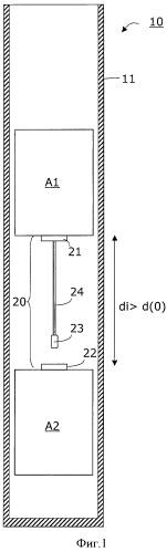 Способ предотвращения наезда двух установленных в одной шахте лифтовой установки с возможностью движения лифтовых кабин и соответствующая лифтовая установка