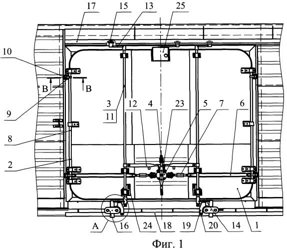 Механизм открывания и закрывания двери крытого вагона