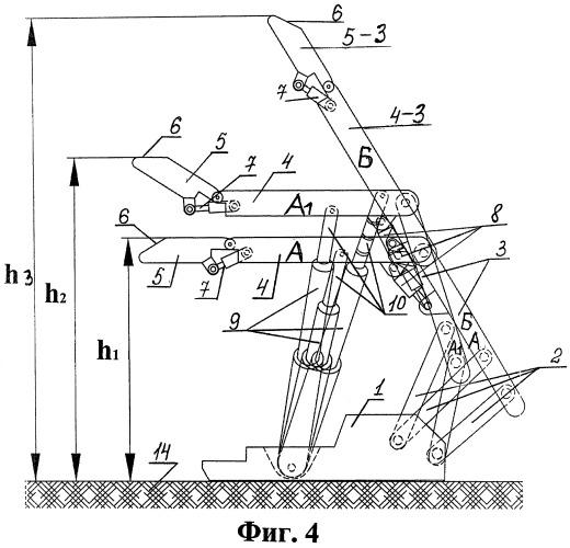 Секция трансформер механизированной крепи из поддерживающе-оградительного в оградительный тип и наоборот