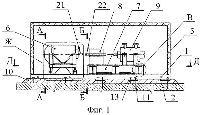 Блок-контейнер компрессорного агрегата и способ его установки на фундамент