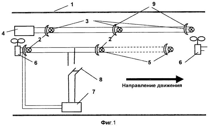 Система освещения в транспортном тоннеле