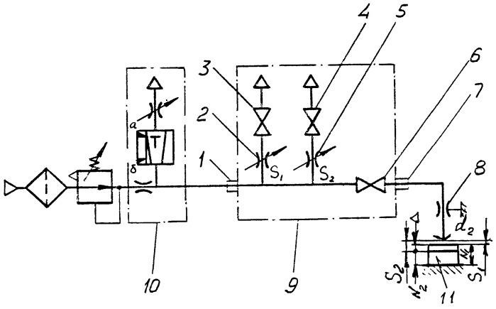 Устройство для настройки и поверки пневматических установок размерного контроля
