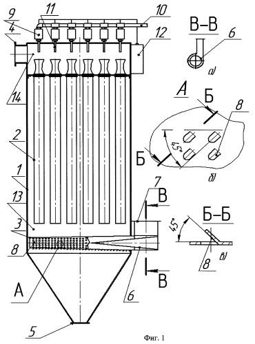 Рукавный фильтр для очистки технологических газов и аспирационных выбросов