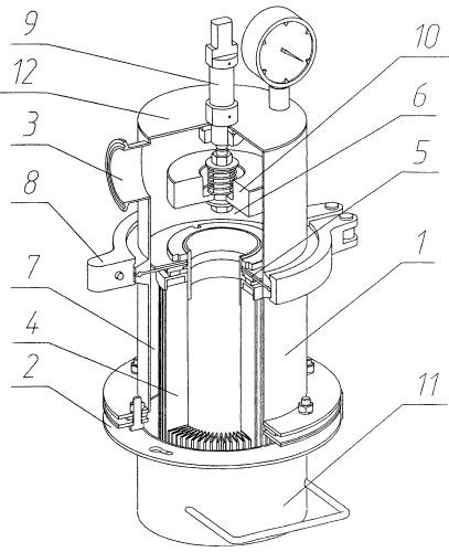 Регенерируемый фильтр для очистки газов от твердых аэрозолей