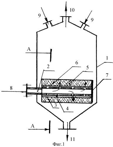 Аппарат для проведения физико-химических процессов в вихревом газовом потоке