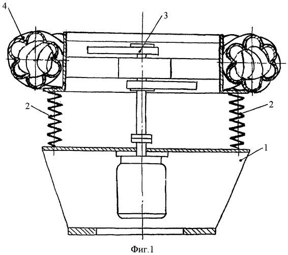 Виброустановка с тороидальной рабочей камерой