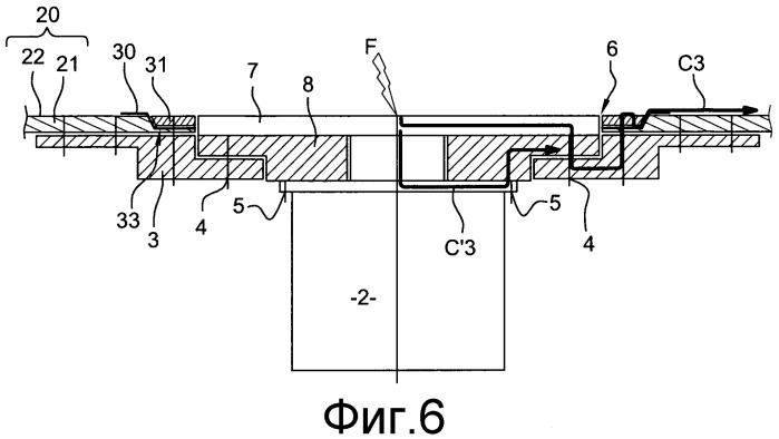 Система отвода тока молнии, генерируемого грозовым разрядом на летательный аппарат