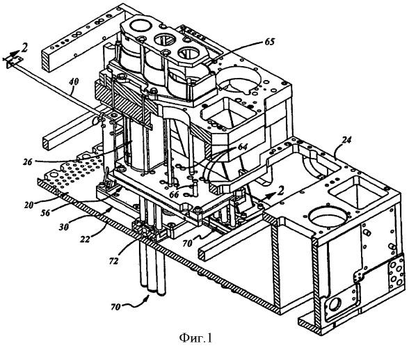 Опорное устройство плунжера стеклоформующей машины