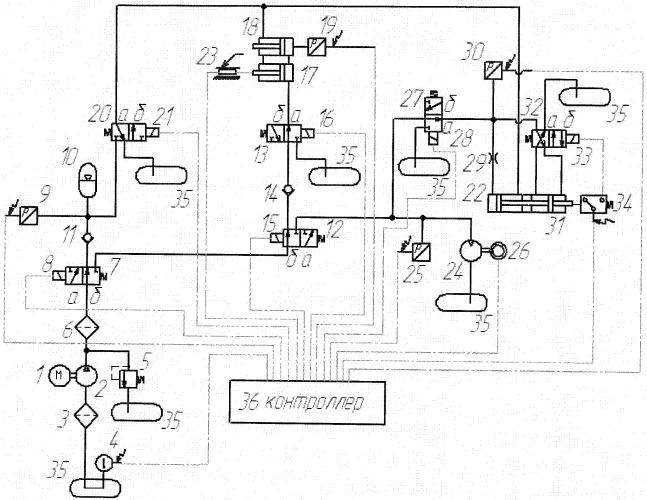 Электрическая схема на перфоратор