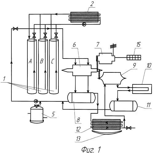 Энергетическая система для одновременного производства электрической энергии, холода и получения пресной воды из окружающей среды