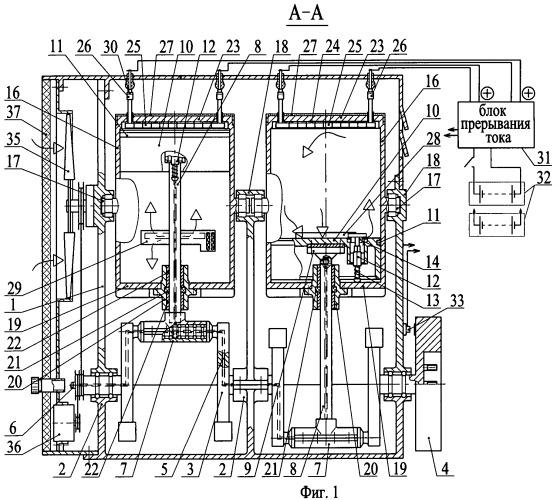 Двухтактный двигатель внутреннего нагревания рабочего тела