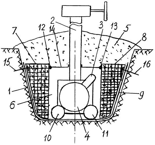 Способ защиты узлов подземных трубопроводов в зонах с повышенной сейсмичностью в многолетнемерзлых грунтах