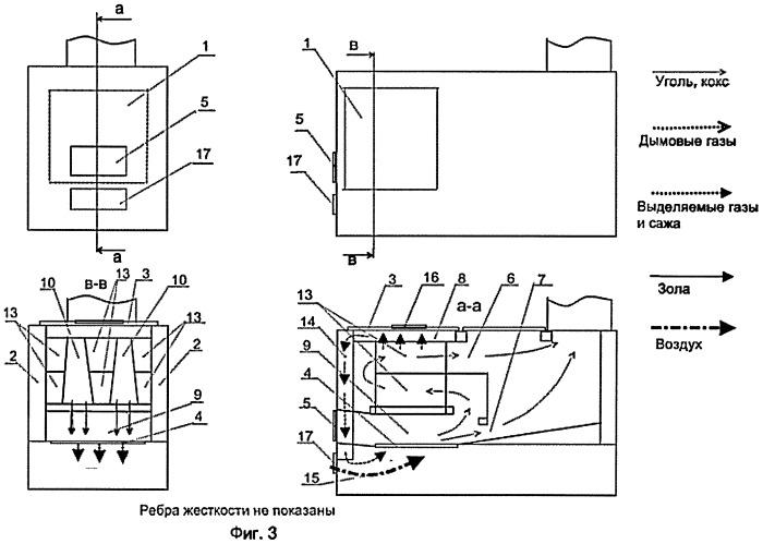 Топочная камера высокотемпературного горения для бытовых печей и кухонных плит
