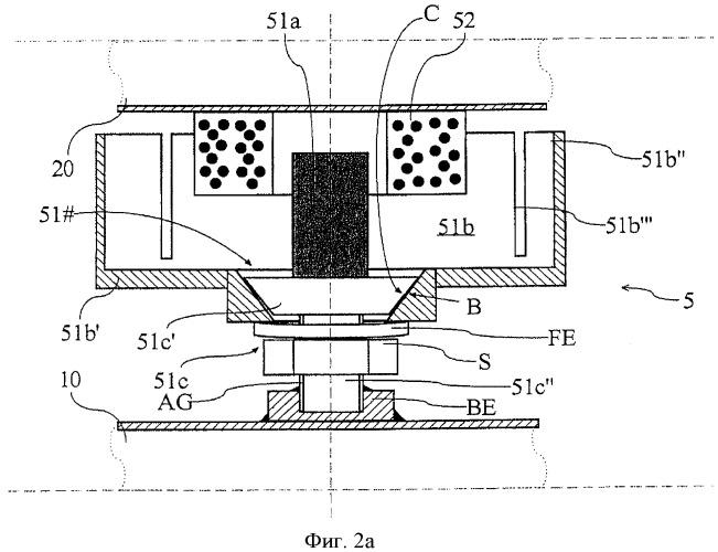 Электромагнитное устройство, а также датчик вибрационного типа с таким электромагнитным устройством