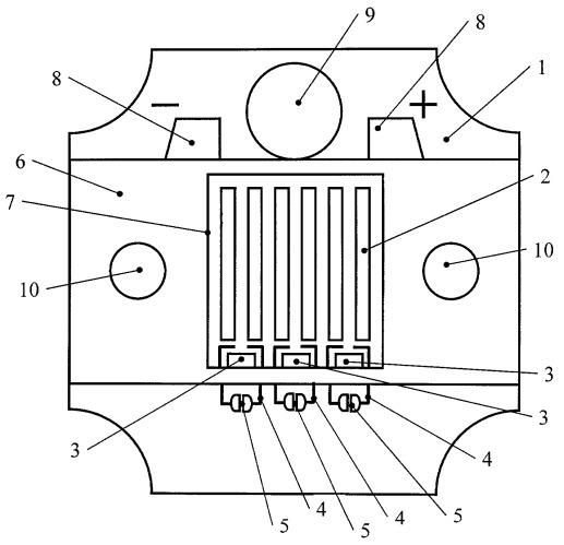 Многокристальная светоизлучающая матрица