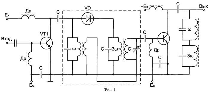 Транзисторный усилитель мощности радиопередатчика