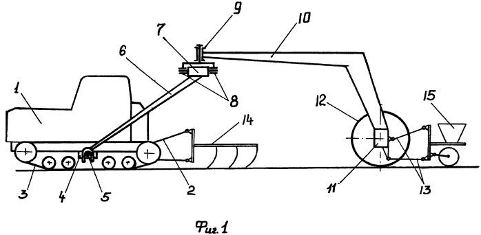 Способ и устройство многомашинного агрегатирования трактора