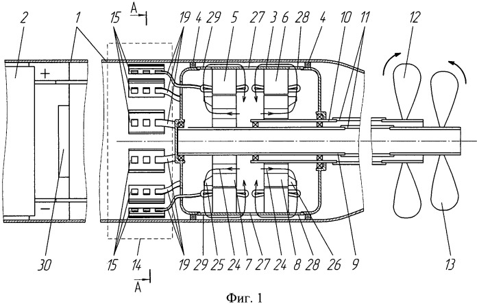 Электропривод подводного аппарата