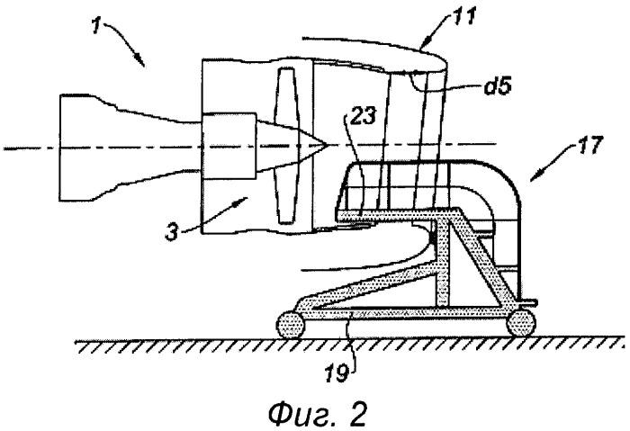 Тележка для технического обслуживания воздухозаборника гондолы авиационного турбореактивного двигателя