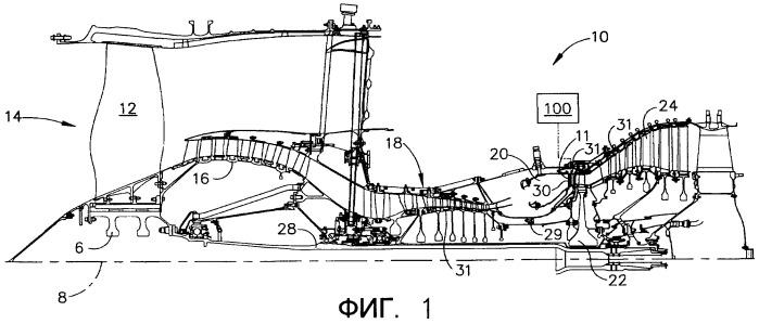 Система подъема граничного слоя посредством плазмы для лопатки газотурбинного двигателя (варианты) и способ использования газотурбинного двигателя