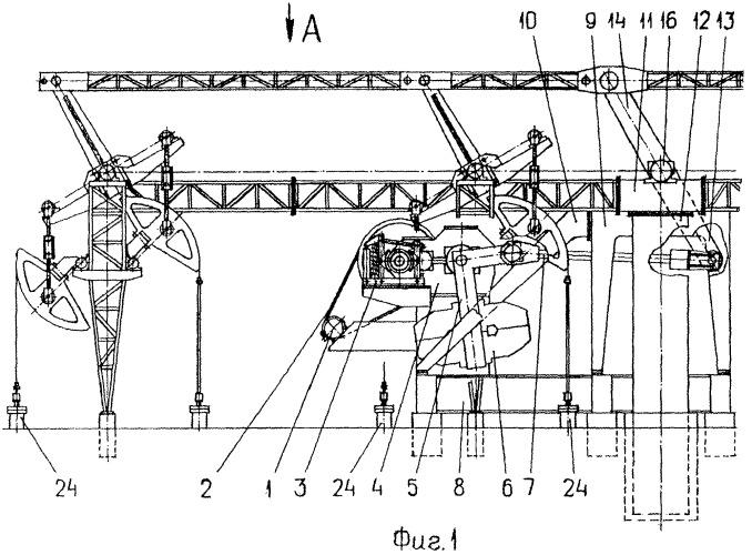 Групповой привод штанговых насосов куста скважин (варианты) и способ его осуществления