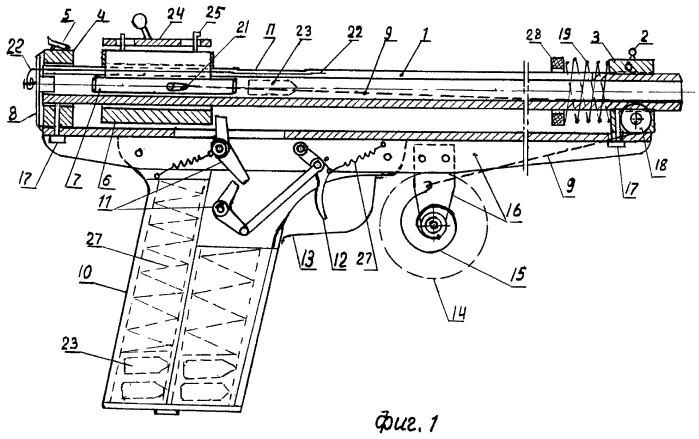 Механическое ствольное пружинно-инерционное стрелковое оружие (пистолет, винтовка)