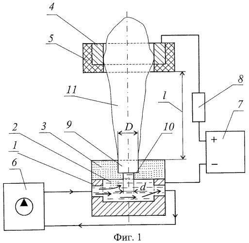 Способ получения электрического разряда в парах электролита и устройство для его осуществления