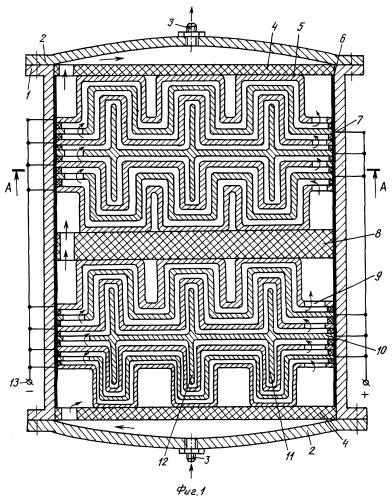 Электроочиститель диэлектрических сред с гофрированными электродами