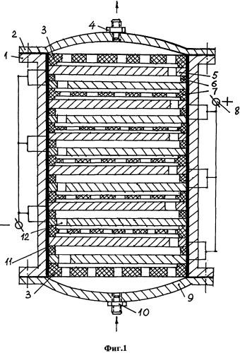 Электроочиститель с парным подключением электродов к источнику энергии
