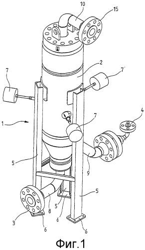 Устройство для непрерывного смешивания извлеченного из хранилища природного газа с кислородом в горючий газ для нагревания находящегося под давлением природного газа перед его расширением или после него