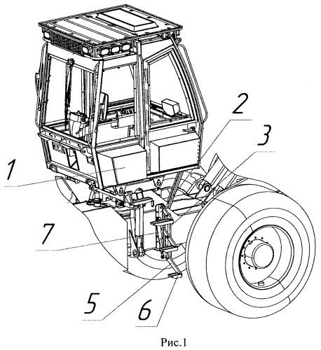 Лестница для кабины транспортного средства, предпочтительно лесопромышленной машины