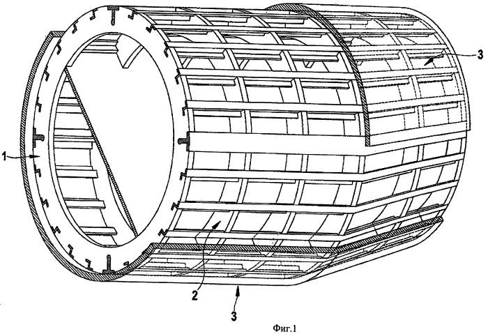 Элемент обшивки как часть фюзеляжа самолета