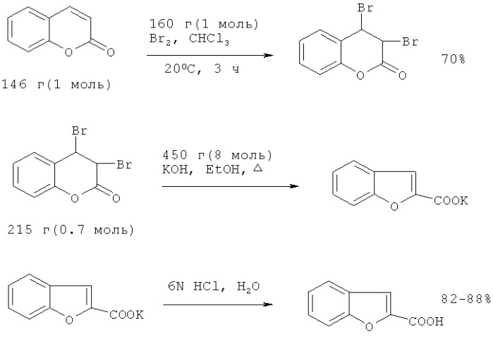 Способ получения метилового эфира 2-бензо[b]фуранкарбоновой кислоты
