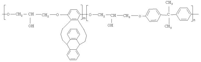 Сополигидроксиэфир на основе бисфенола а и триптицендиола-2,5