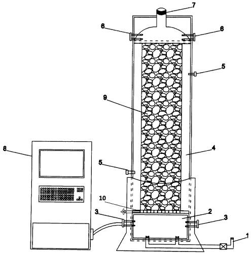 Колонна для регенерации железоокисляющими микроорганизмами растворов выщелачивания минерального сырья
