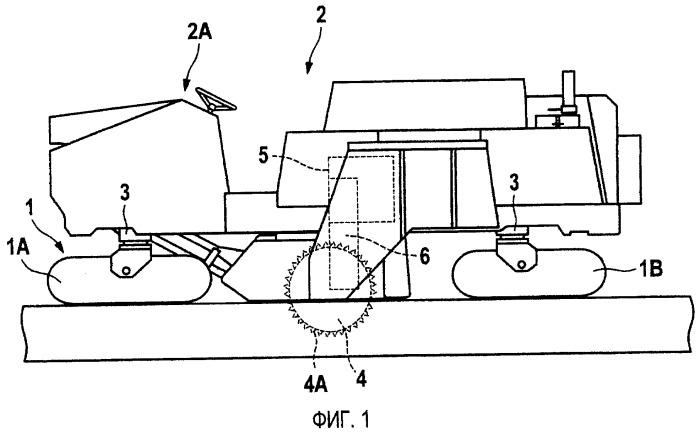 Самоходная машина для гражданского строительства и, в частности, дорожная фрезерная машина, устройство для восстановления дорожного покрытия или дорожный стабилизатор