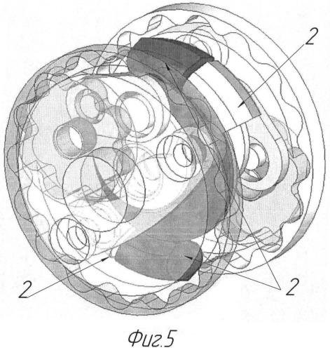 Четырехтактный роторно-лопастной двигатель внутреннего сгорания