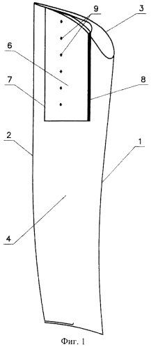 Лопатка сопловой решетки влажно-паровой турбины