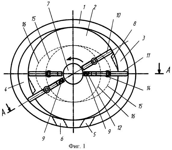 Роторно-пластинчатый механизм двигателя внутреннего сгорания