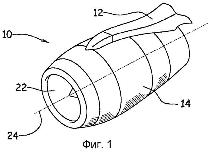 Гондола летательного аппарата с акустической панелью с изменяющейся акустической характеристикой
